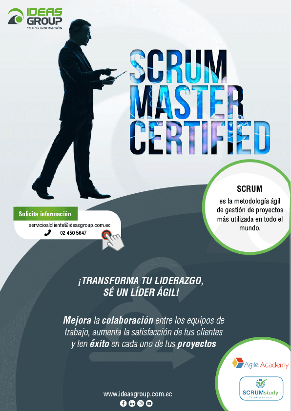 Curso Scrum Master Certified - Preparación para la certificación oficial